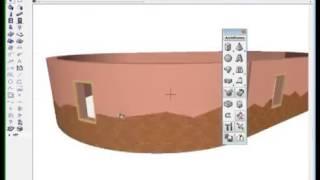 ArchiCAD. Урок 10. Как смоделировать декоративную отделку дугообразных стен? . (Алексей Каширский)