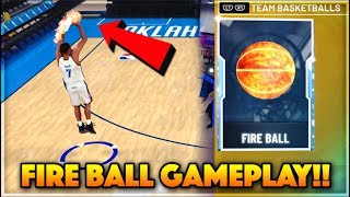 *WORLD'S FIRST* FIRE BALL GAMEPLAY IN NBA 2K20!! + How To Unlock The Fire Ball In NBA 2k20 MyTEAM