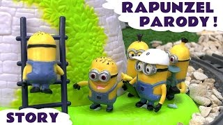 Minions Funny Fairy Tale Rapunzel Parody | Thomas & Friends Story | Disney Tangled Magical Tower