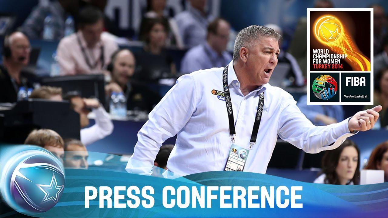 Turkey v Australia - 3rd Place Press Conference