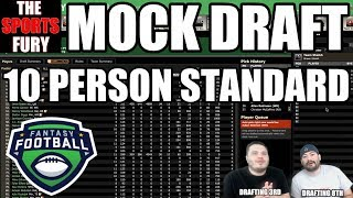Fantasy Football Mock Draft Standard (Drafting 3rd & 8th) Free HD Video