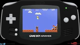 Super Mario Bros. (Classic NES Series) (GBA) Luigi Gameplay Speedrun