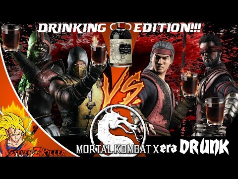 Drunk Gaming w/ Friends | Mortal Kombat X Extra Drunk Edition!!! (Loser Drinks)