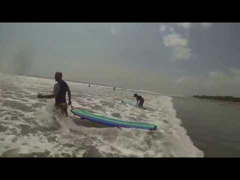 Surfing in Seminyak, Bali Indonesia