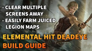 Elemental Hit Deadeye Build Guide - Clear MULTIPLE Screens Away! - Path of Exile 3.13