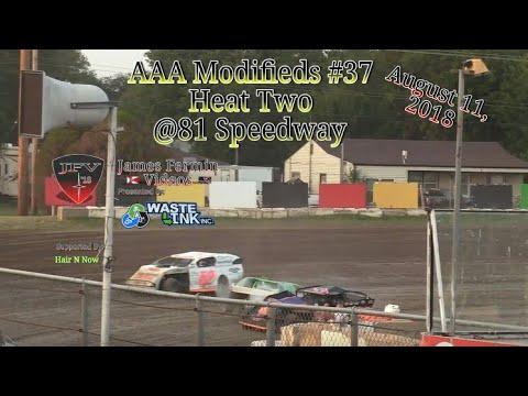 AAA Modifieds #37, Heat 2, 81 Speedway, 08/11/18