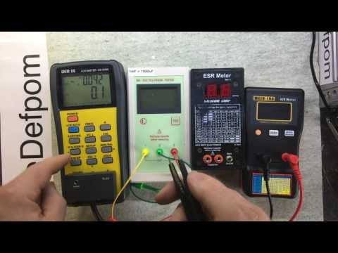#172 DER EE DE-5000, Silicon Chip ESR Meter MkII, MESR-100, MK-328, ESR meter comparison,