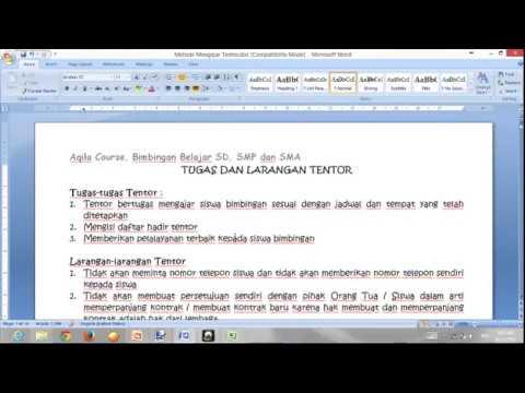 Tutor 01 Peraturan Tentor