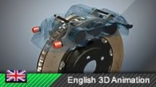 Disk brake / Fiאed caliper brake - How it works! (Animation)