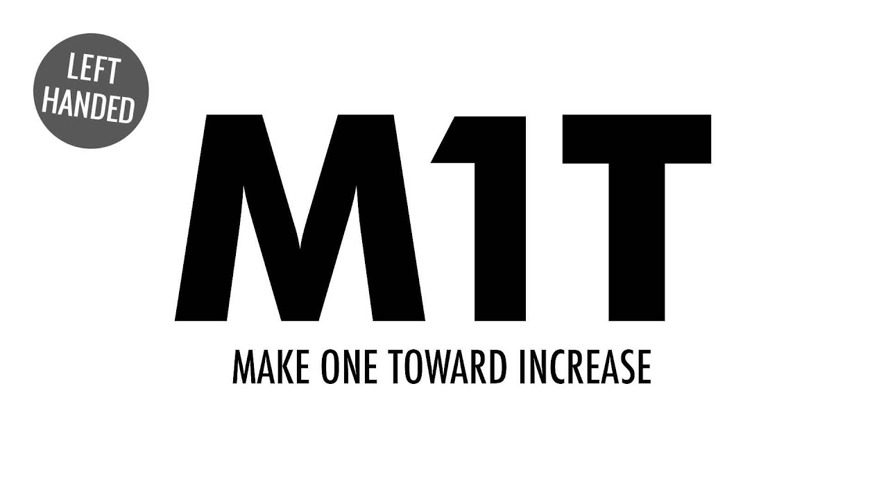 The Make One Toward Increase (M1T) :: Knitting Increase :: Left Handed - YouTube