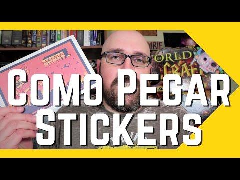 Como Pegar Stickers - Pegatinas Calcomanias Adhesivo Truco en Español