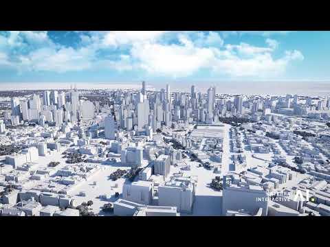 3D digital model Melbourne City 2018