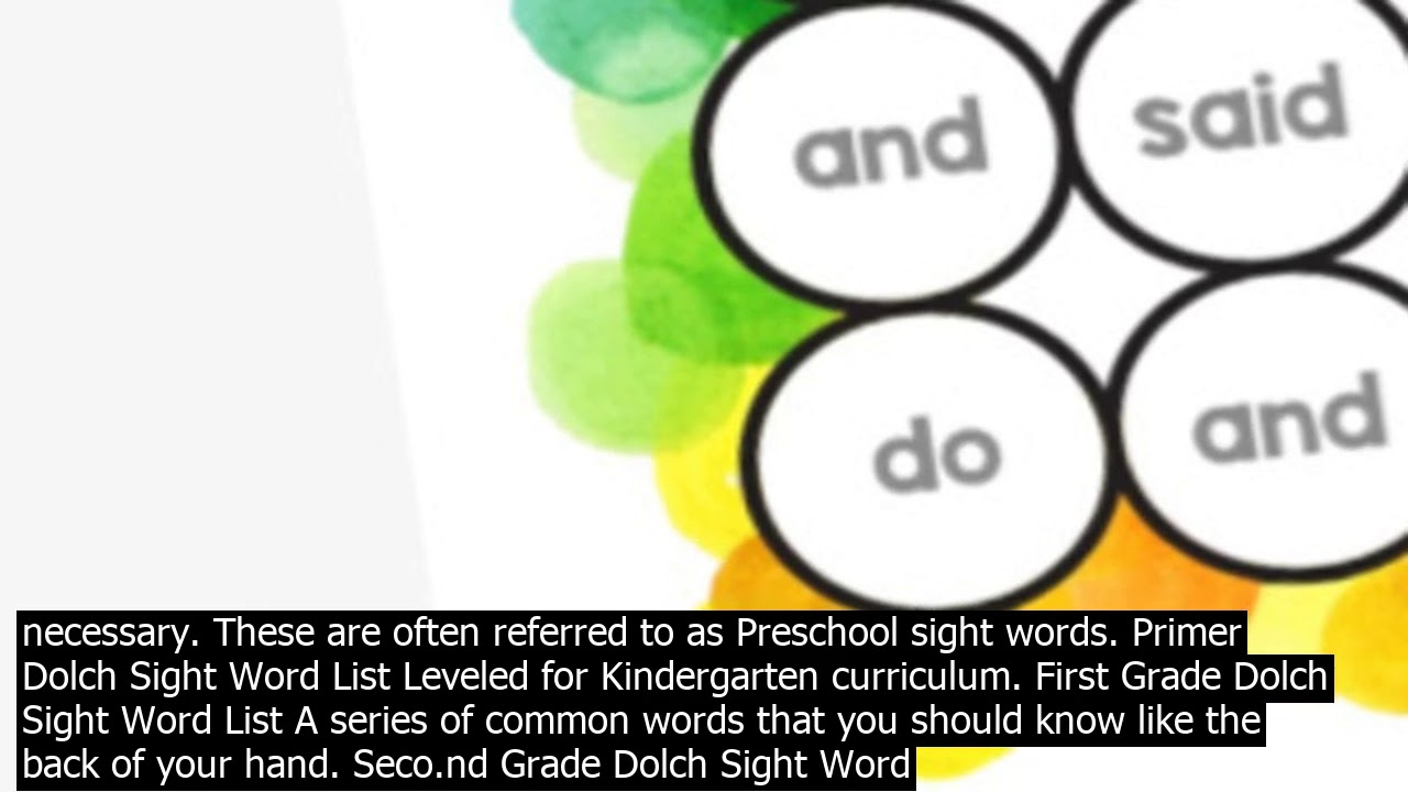 small resolution of Sight words for kindergarten free printable free sight word worksheets for  kindergarten – - YouTube