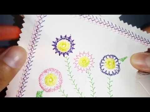 Conoce el prensatelas para bordar flores