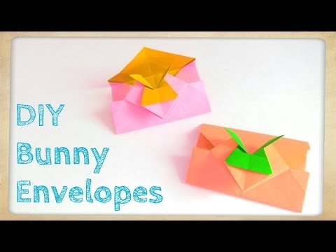 Easter Crafts - Origami Bunny Envelope - Easter Bunny & Rabbit Envelope - Easy Kids Crafts