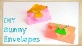 Diy Origami Bunny Envelope - Easter Crafts - Easter Bunny / Rabbit Envelope - Kids, Easy