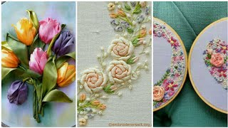 Top stunning silk ribbon embroidery design and pattern Design amazing ideas