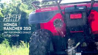 honda rancher 350 hmf slip on exhaust