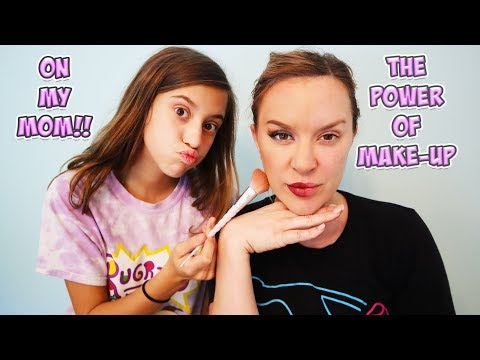THE POWER OF MAKE-UP CHALLENGE ON MY MOM!!