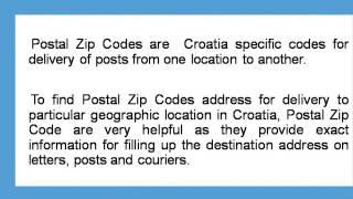 About Croatia Postal Zip Code Finder