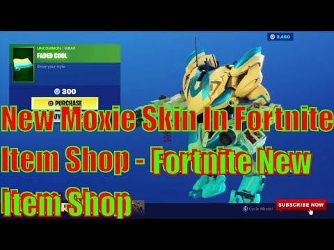 New Moxie Skin In Fortnite Item Shop - Fortnite New Item Shop The Moxie Skin Clobber Axe