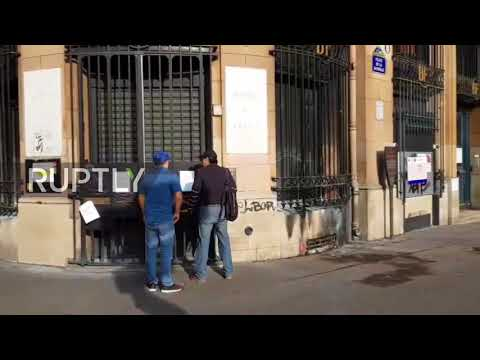 France: Russian dissident artist Petr Pavlenski sets fire to Bank of France in Paris