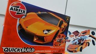 Airfix quickbuild Lamborghini  | Scale Modelling for Kids