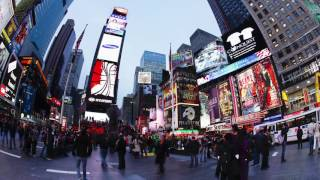 Busy streets of New York City - time lapse