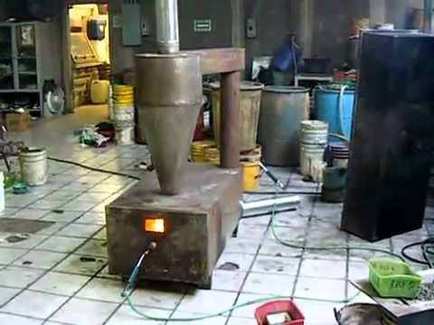 Trash Burning Furnace while working - YouTube