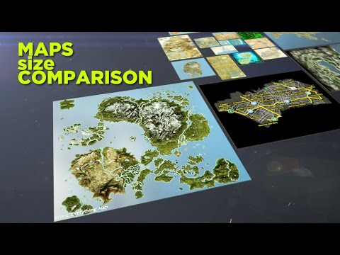 Video game maps size comparison