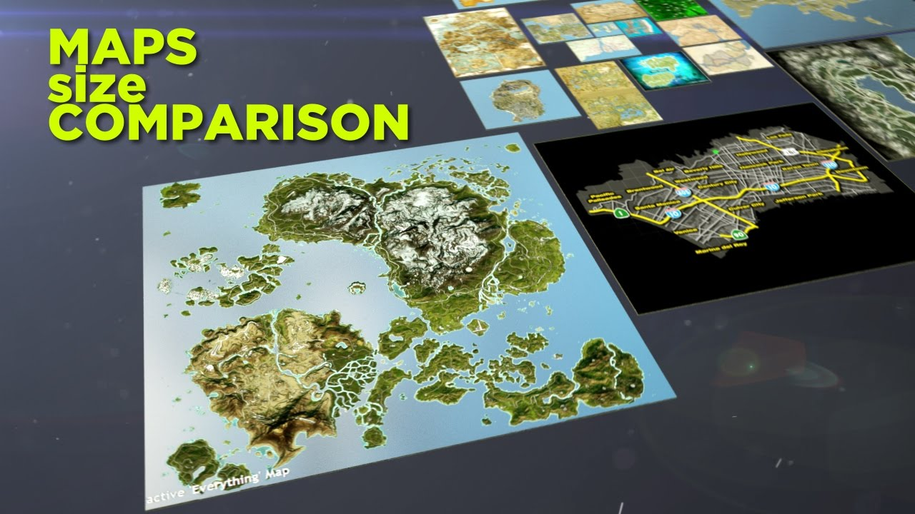 A Size Comparison Of Various Video Game Maps Geekologie