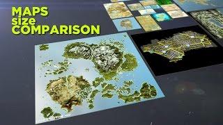 Video game maps size comparison thumbnail