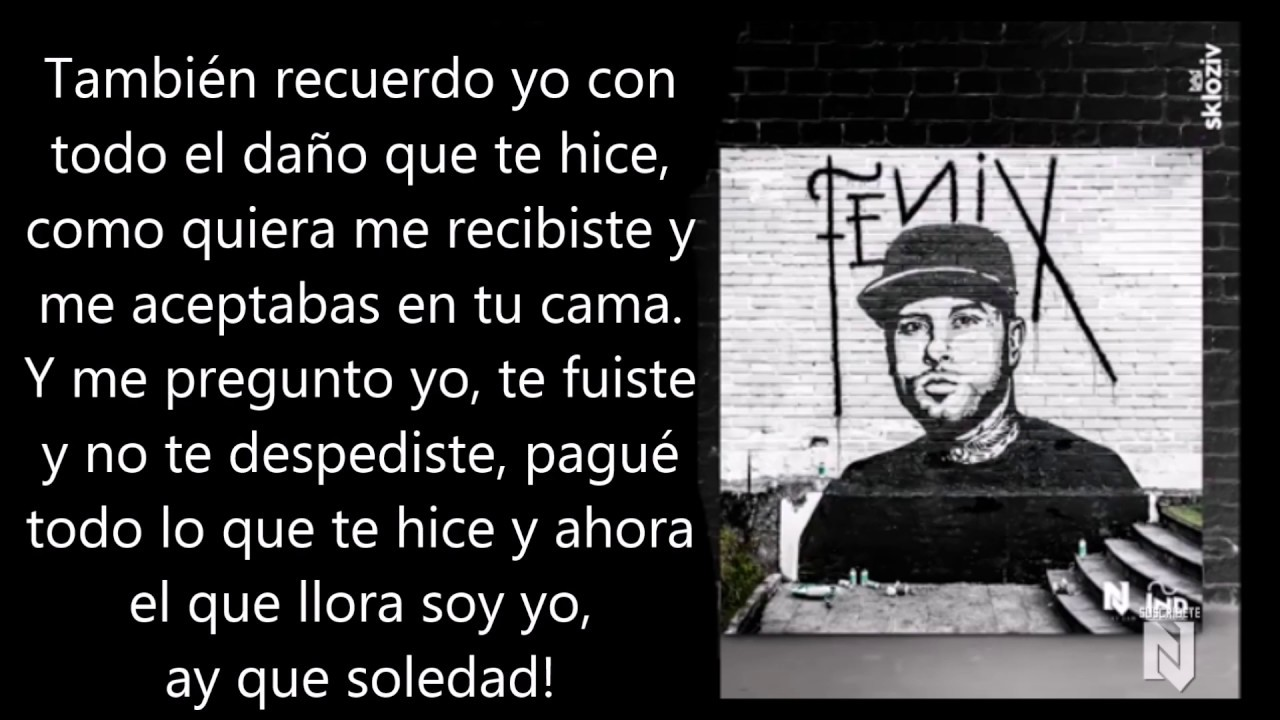 Mil Lágrimas Nicky Jam Lyric Video Youtube