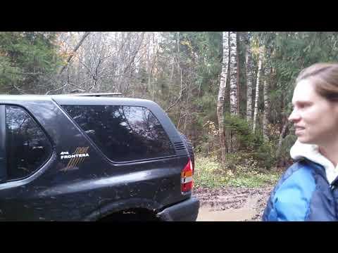 Первое бездорожье,Первый снег на Opel Frontera B Sport!