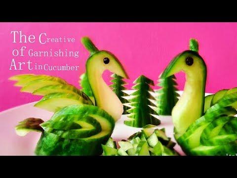 Cara Membuat Ketimun Burung - Cara Buat Garnish Dari Sayuran