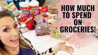 How much to spend on groceries! | How to cut your food bill in half