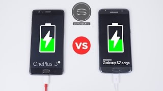 OnePlus 3T vs Galaxy S7 Edge - Battery Charging Speed Test