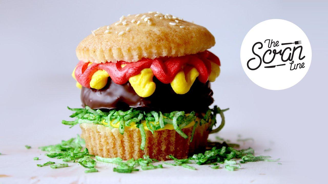 hamburger cupcakes - the scran line