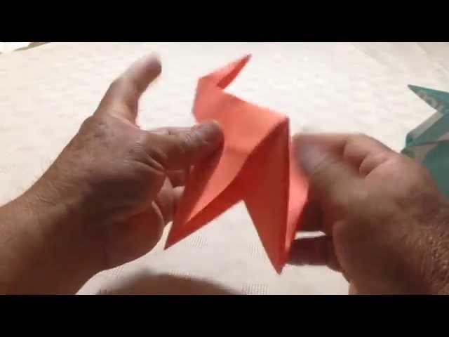 Como hacer un cuervo de papel. (Origami )