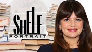 Casey Wilson's Bookshelf Tour: Nicole Byer, David Sedaris & More   Shelf Portrait   Marie Claire