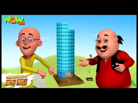 Motu Patlu Cartoons In Hindi  Animated cartoon  mobile tower  Wow Kidz