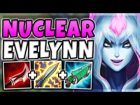 Download Youtube: NUCLEAR ONE-SHOT EVELYNN MID! 100% INSTANT ONE-SHOT CARRIES WITH E (BUSTED) - League of Legends