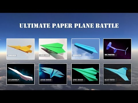 PAPER PLANE BATTLE -  Best paper planes flying from the 10th story building