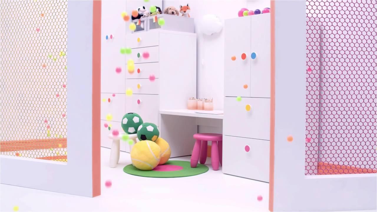 Handtuchständer Ikea ikea spalvingai taškuotos durelės ir stalčiai