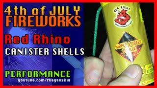 Red Rhino Max'd Out Canister Shells Fireworks Performance