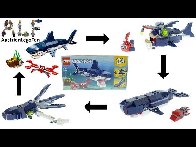 Lego Creator 31088 Deep Sea Creatures All 4 Models Speed Build