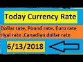 Today currency rate ||currency rate today ||OPEN MARKET CURRENCY RATES IN PAKISTAN 6/13/2018