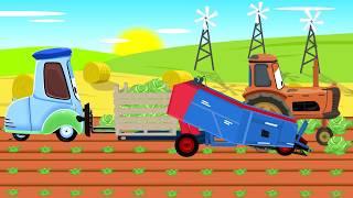 Forklift truck and Tractors from McQueen - Cabbage | Wózek Widłowy i Traktor - zbiory Kapusty Bajka