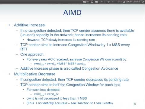 ITS413, Lecture 19, 24 Jan 2013 - TCP Congestion Control