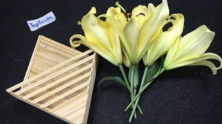 How to make Flower Basket with Bamboo Sticks | DIY Popsicle Stick Craft
